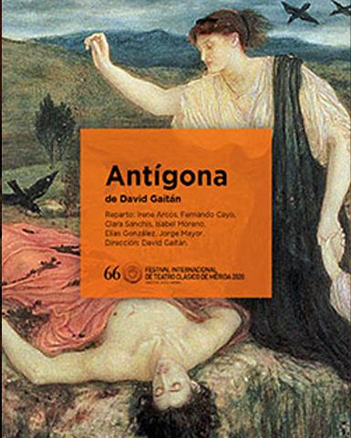 Cartel de la obra Antígona